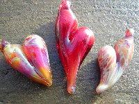 3 Hearts Boro Pendants