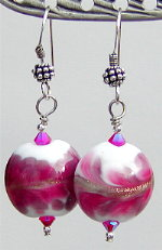 Fuschia Cloud Earrings