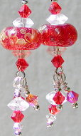 Pomegranite Crystal Earrings
