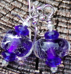 Silvered Cobalt Earrings