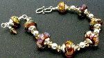 Bronzed Boro Bracelet