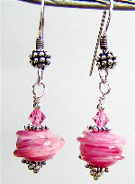 Fuschia Swirl Earrings